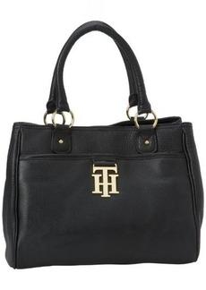 Tommy Hilfiger Monogrammed Pebble Shopper Tote Handbag
