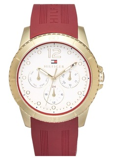 Tommy Hilfiger Multifunction Silicone Strap Watch, 38mm