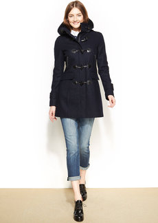 Tommy Hilfiger Petite Wool-Blend Toggle-Front Pea Coat