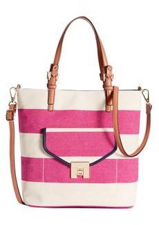Tommy Hilfiger Postino Rugby Woven Canvas Mini Convertible Magazine Tote