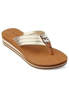 Tommy Hilfiger Roxanne Wedge Thong Sandals Women's Shoes