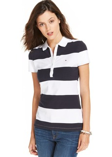 Tommy Hilfiger Short-Sleeve Rugby Striped Polo