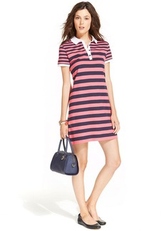 Tommy Hilfiger Short-Sleeve Striped Polo Dress