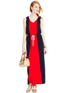 Tommy Hilfiger Sleeveless Colorblocked Maxi Dress