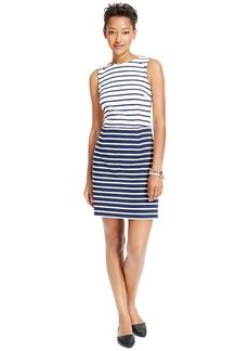 Tommy Hilfiger Sleeveless Striped Colorblocked Dress