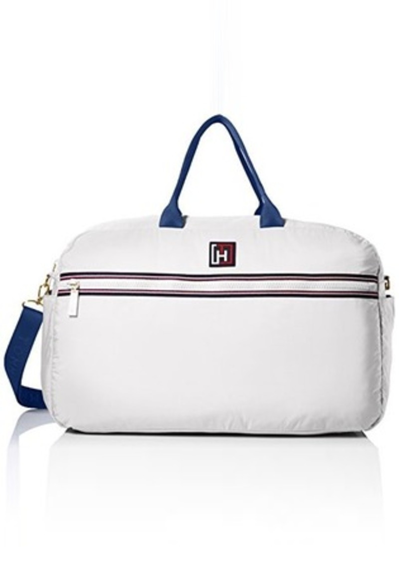 tommy hilfiger tommy hilfiger sport nylon weekender bag white one size handbags shop it to me. Black Bedroom Furniture Sets. Home Design Ideas