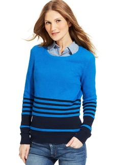Tommy Hilfiger Striped Crew-Neck Sweater