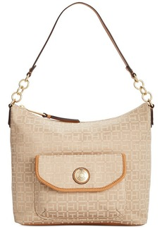 Tommy Hilfiger TH Coin Monogram Jacquard Small Hobo