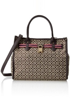 Tommy Hilfiger TH Heritage Shopper Jacquard Shoulder Bag