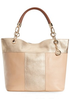 Tommy Hilfiger TH Signature Leather Colorblock Tote