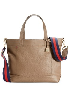 Tommy Hilfiger TH Signature Leather Convertible Tote