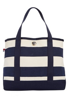 Tommy Hilfiger TH Totes Woven Rugby Stripe Small Tote
