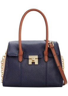 Tommy Hilfiger TH Turnlock Leather Colorblock Mini Convertible Top Handle