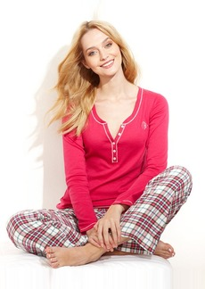 Tommy Hilfiger Winter Break Flannel Top and Pajama Pants Set