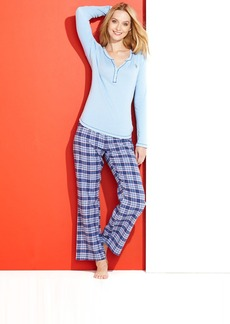 Tommy Hilfiger Winter Break Henley Top and Flannel Pajama Pants Set