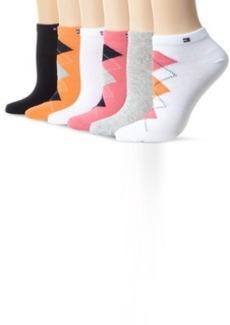 Tommy Hilfiger Women's 6 Pack Argyle Liner Sock