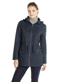 Tommy Hilfiger Women's Cotton and Nylon Parka
