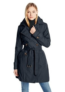 Tommy Hilfiger Women's Double-Breasted Hooded Trench Coat