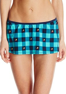 Tommy Hilfiger Women's Fly Dobby Gingham Skirted Bikini Bottom