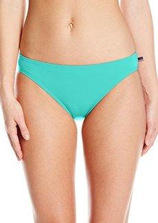 Tommy Hilfiger Women's Hardware Solids Classic Bikini Bottom
