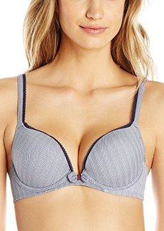 Tommy Hilfiger Women's Microfiber Push Up Bra with Bow