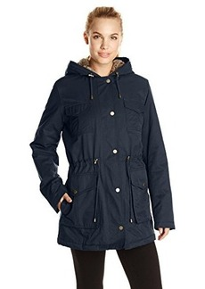Tommy Hilfiger Women's Parka with Quilted Lining and Fur Hood