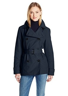 Tommy Hilfiger Women's Short Double Breasted Belted Trench Coat