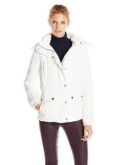 Tommy Hilfiger Women's Short Down Coat with Faux-Fur Trim