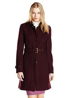 Tommy Hilfiger Women's Single-Breasted Wool-Blend Coat with Belt