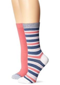Tommy Hilfiger Women's Two-Pair Pack Stripe Crew Socks