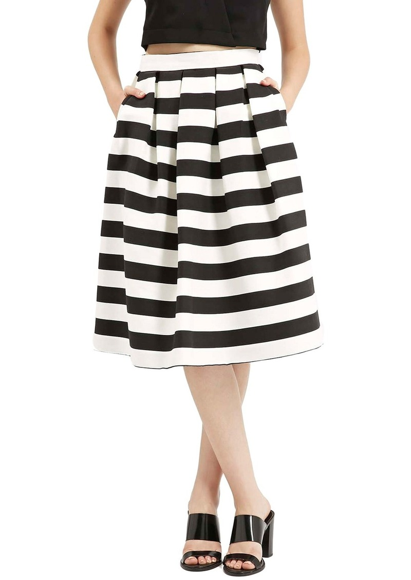 topshop topshop stripe midi skirt skirts shop it to me