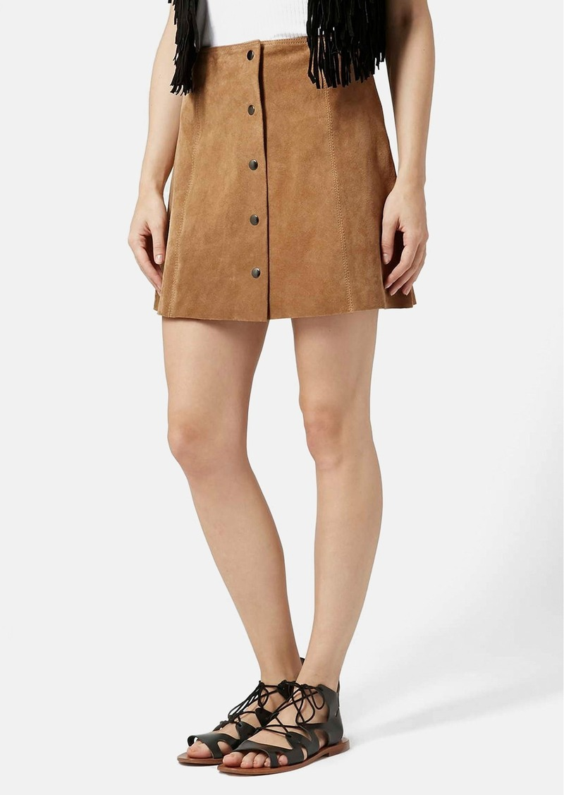topshop topshop suede a line skirt skirts shop it to me