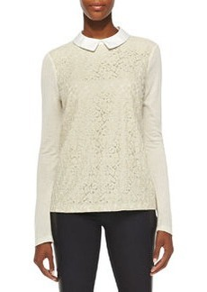 Gabriella Lace/Knit Combo Top   Gabriella Lace/Knit Combo Top