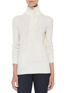 Giselle Button-Down Mock-Neck Sweater   Giselle Button-Down Mock-Neck Sweater