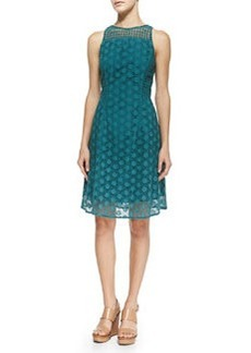 Hallie Circles Eyelet Dress, Pond   Hallie Circles Eyelet Dress, Pond
