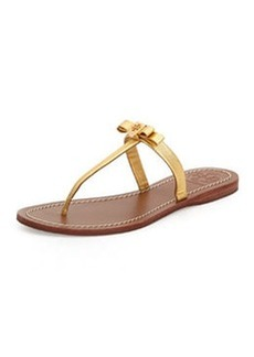 Leighanne Bow Thong Sandal, Gold   Leighanne Bow Thong Sandal, Gold