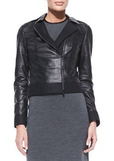 Lila Tiered Leather Jacket   Lila Tiered Leather Jacket
