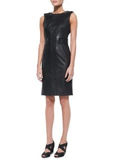 Luisa Sleeveless Leather & Ponte Dress   Luisa Sleeveless Leather & Ponte Dress