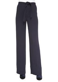 Macey Crepe Tie-Waist Pants   Macey Crepe Tie-Waist Pants