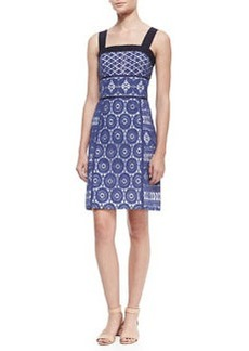 Margaux Lace-Overlay Sleeveless Dress   Margaux Lace-Overlay Sleeveless Dress