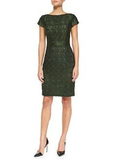 Mariana Satin/Jacquard Fitted Dress   Mariana Satin/Jacquard Fitted Dress