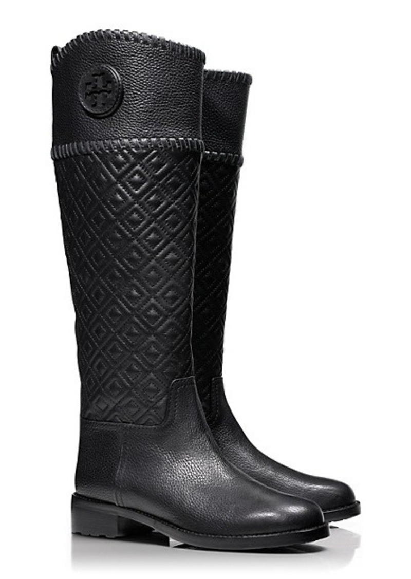 Tory Burch Marion Quilted Riding Boot Shoes Shop It To Me
