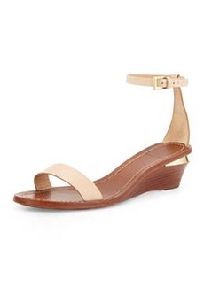 Tory Burch Maya Leather Wedge Sandal, Camelia Pink