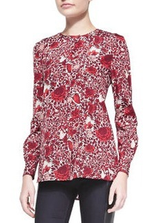 Meg Floral-Print Stretch-Silk Top   Meg Floral-Print Stretch-Silk Top