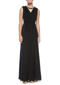 Meryl Pleated Silk Gown   Meryl Pleated Silk Gown