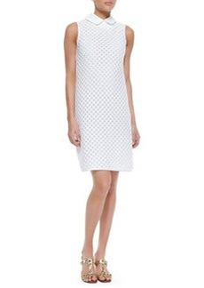 Perla Cotton Dress With Detachable Collar   Perla Cotton Dress With Detachable Collar