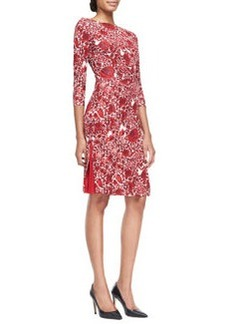 Ria Floral-Print Boat-Neck Sheath Dress   Ria Floral-Print Boat-Neck Sheath Dress