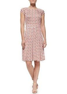Sophia Cap-Sleeve Calyx Floral-Print Dress   Sophia Cap-Sleeve Calyx Floral-Print Dress