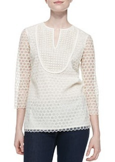 Tali-3/4-Sleeve Combo Honeycomb Top   Tali-3/4-Sleeve Combo Honeycomb Top