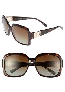 Tory Burch 59mm Polarized Sunglasses